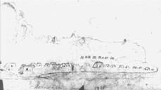 Māhā'ulepū Village as drawn by Hiram Bingham-1824