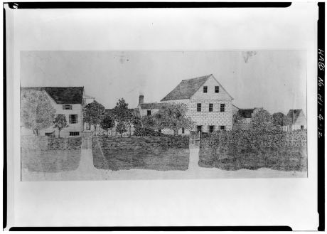 MISSION HOUSES-drawing by James P. Chamberlain-(LOC)-ca 1860)