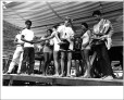 Makaka International Surfing Championships, Junior Men's winners receiving awards. 1965. Photographer unknown.