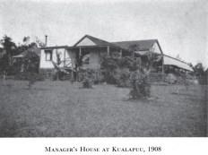 Manager's House Kualapuu-1908-Cooke