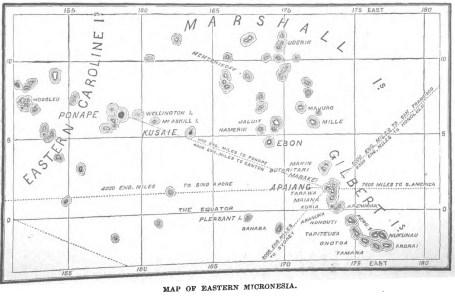 Map of Eastern Micronesia-Bingham