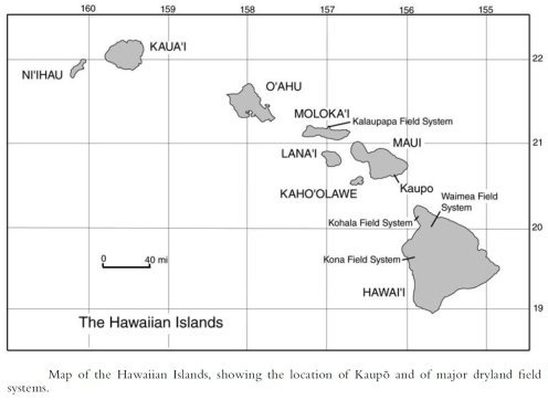 Map of Islands noting Majory Dryland Field Systems-(Kirch)