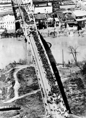Marchers Crossing the Edmund-Pettus Bridge, 1965
