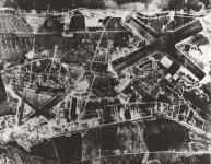 Marine Corps Air Station Ewa (left) and Naval Air Station Barbers Point, right, September 1944