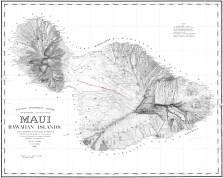 Maui-Dodge-DAGS-(1268)-1885-noting Sugar Planatations and Pulehunui