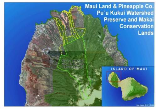 Maui-Puu Kukui Preserve map