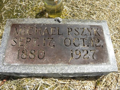 Michael Pszyk headstone