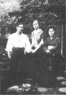 Miss Alexander with her close friends, Mr. Tokujiro Torii and Mrs. Ito Torii