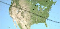NASA map of the US showing path of totality for the August 21, 2017 total solar eclipse