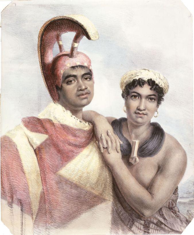 Na_Poki._and_his_wife_Liliha-1824