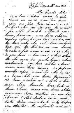 Namahana to Jeremiah Evarts (ABCFM)-March 12, 1828-1