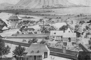 No._2._View_of_Honolulu._From_the_Catholic_church._(c._1854)-Honolulu_to_Waikiki-Detail