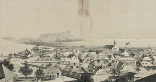 No._2._View_of_Honolulu._From_the_Catholic_church._(c._1854)-center image