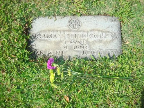 Norman_Keith_Collins headstone Punchbowl