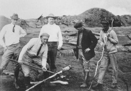 Norton Twigg-Smith, Thomas Jaggar, Lorrin Thurston, Joe Monez, and Alex Lancaster-1917