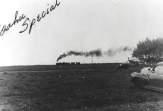 OR&L Train thunders past Mokuleia Field, Oahu,-(hawaii-gov-hawaiiaviation)-c1942-1943-400
