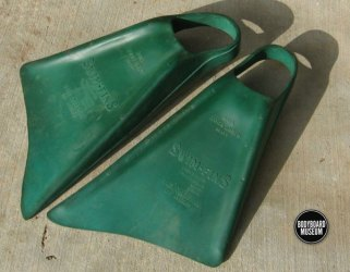 Original Vintage Churchill Swim-Fins-bodyboardmuseum