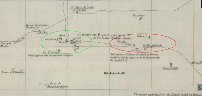 Pacific_Chart_of_the_Spanish_Galleon-Rumsey-portion-zoom-Island_groups_indicated