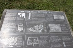 Pahukini Heiau - interpretive sign