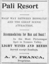 Pali Resort Ad-Hawaiian Star-Jan_10,_1899