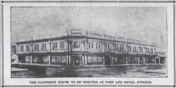 Pantheon Block Hawaii Gazette July 20 1909