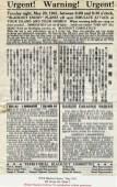 Practice Blackout Notice-BishopMuseum-May 1941
