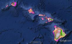 Pre-contact Footprint-Eco-systems-Hawaiian Islands-GoogleEarth-OHA-TNC