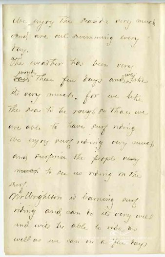 Prince Kuhio letter to the Hawaiian consul Mr Armstrong in London-Sep_22,_1890-2-MuseumOfBritishSurfing