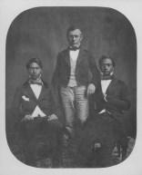 Princes Alexander Iolani Liholiho Keawenu (Kamehameha IV) and Lot Kapuaiwa (Kamehameha V) with Dr. Gerrit P Judd (center)-(nih-gov)