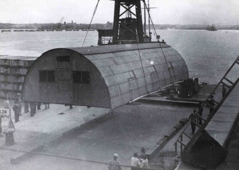 Quonset_hut_emplacement_in_Japan