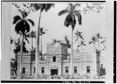 Reconstruction of Barracks - Iolani Barracks, Richards & Hotel Streets-LOC-April 17, 1965