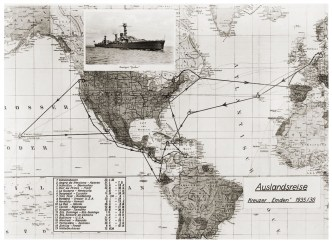 Route of the cruise of the Emden-1935-36