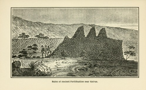 Ruins_of_an_ancient_Fortification,_near_Kairua,_sketch_by_William_Ellis