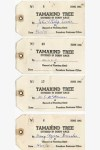 Seedling purchase tags from the 1941 -Tamarind Tree Derby Race'-Punahou