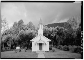 Siloama Protestant Church-facing, Moloka'i Island, Kalaupapa, Kalawao County, HI-LOC