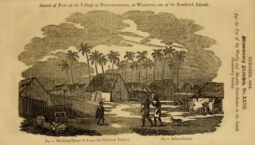 Sketch of Auna's house in Honolulu