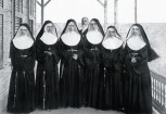 Sr. M. Rosalia, Sr. M Martha, Sr M. Leopoldina, Sr. M Charles, Sr. M. Crescentia, and Mother Marianne rear-Walter Murray Gibson-1886