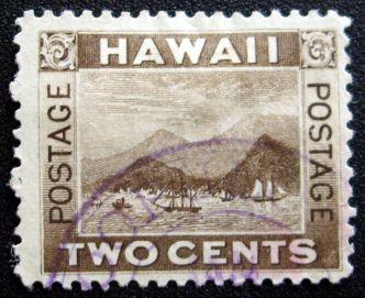 Stamp with Hoopuloa postmark