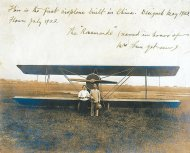 Sun Yat-sen and Soong Ching-ling-first plane manufactured in China - 'Rosamonde', named after Soong's English name