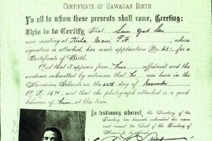 Certificate of Hawaiian Birth
