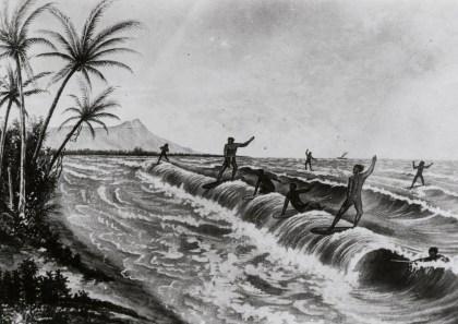 Surfing illustration, LE Edgeworth