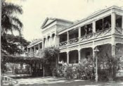 The main hospital building as it stood in 1898