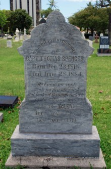 Thomas Spencer Headstone