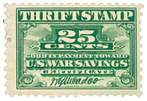 Thrift Stamp-25-cents