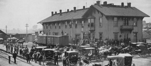 Topeka Depot where Fred Harvey took over the 2nd-flr lunchroom in early 1876