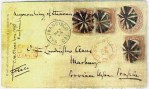 Transcontinental Rail Mail-San Francisco-05-14-1869-to New York-05-25-1869