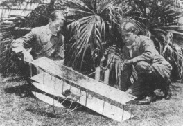 Tuttle Brothers with Scale Model of 1903 Wright Brothers Biplane-Hylton