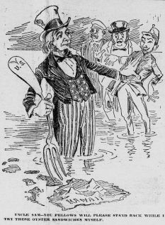 Uncle Sam Annexation Cartoon