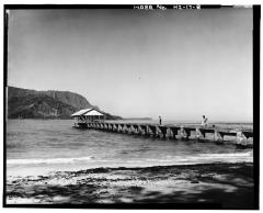 VIEW OF PIER, LOOKING NORTHWEST Photographer-Augie Salbosa. Date-February 22, 1991-(LOC)-058528pv