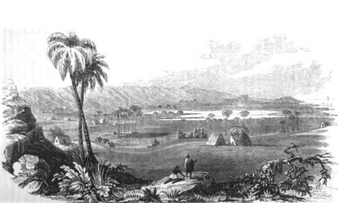 View of southern Oʻahu from ʻEwa in the 1820s